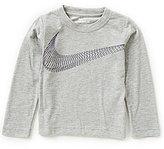 Nike Little Boys 2T-7 Swoosh Flow Long-Sleeve Shirt