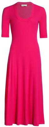 Rosetta Getty Scoopneck Jersey Knit T-Shirt Dress