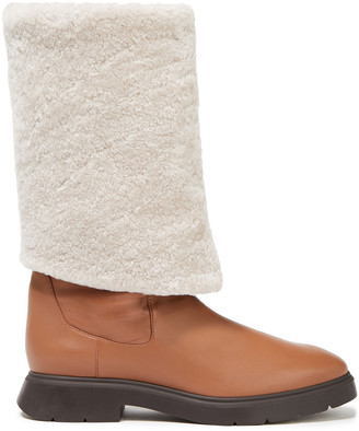 Stuart Weitzman Luiza Shearling-lined Leather Knee Boots