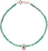 Pascale Monvoisin Montauk 9-karat Rose Gold, Turquoise And Bakelite Anklet