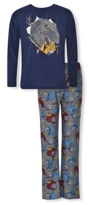 Sleep On It Boys Long Sleeve & Pant 2-Piece Pajama Set Sizes 6-14