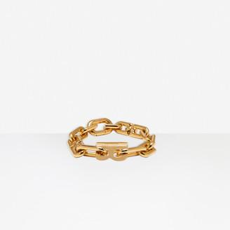 Balenciaga B Chain Thin Bracelet in shiny gold brass