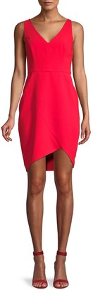 BCBGMAXAZRIA Eve High-Low Sheath Dress