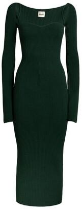 KHAITE Knitted Beth Midi Dress
