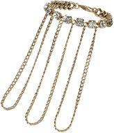 Topshop Stone Chain Hand Chain