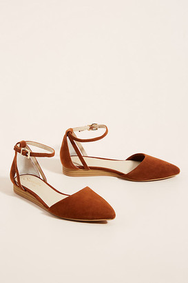 Seychelles Ankle Strap Flats By in Brown Size 8.5