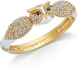 Kate Spade Gold-Tone Pavandeacute; and Enamel Owl Bangle Bracelet