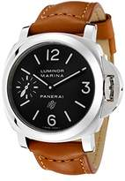 Panerai Men's Luminor Marina Mechanical Dial Brown Leather