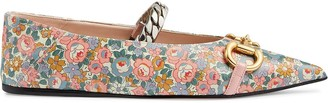 Gucci Exclusive floral-print ballerina shoes