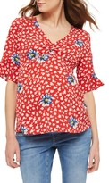 Topshop Women's Ruby Floral Maternity Blouse