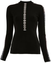 Peter Pilotto geometric trim knitted top - women - Polyamide/Spandex/Elastane/Viscose/Wool - XS