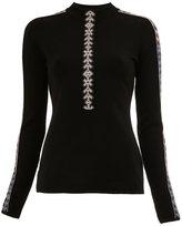 Peter Pilotto geometric trim knitted top - women - Polyamide/Spandex/Elastane/Viscose/Wool - XS