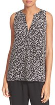 Joie Women's Aruna Print Split Neck Silk Tank