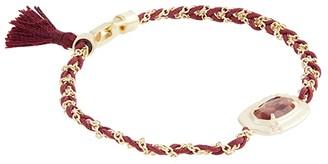 Kendra Scott Anna Friendship Bracelet (Gold Bronze Veined Maroon Jade) Bracelet