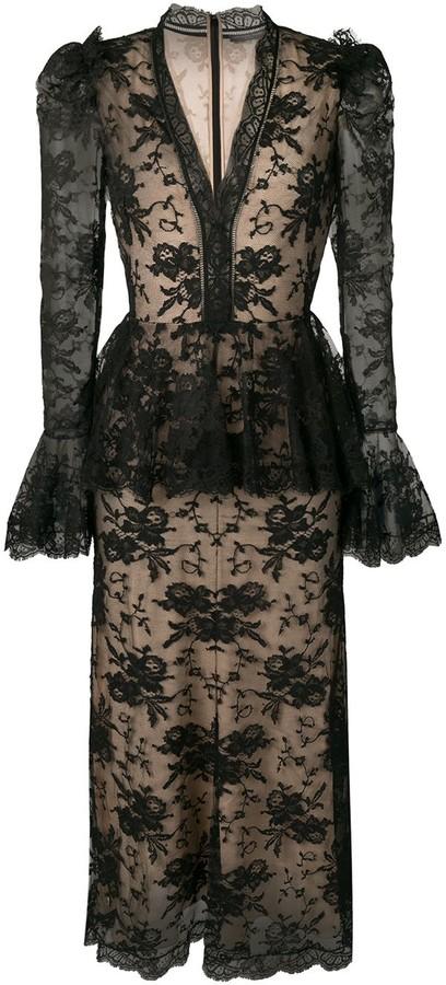 Alexander McQueen peplum-style lace dress