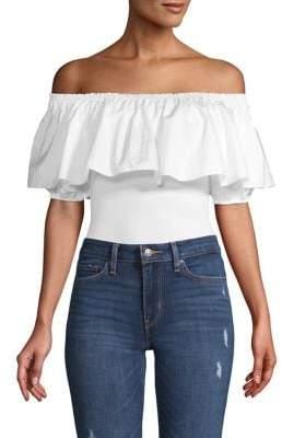 Free People Off-The-Shoulder Cotton-Blend Bodysuit