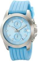 A Line a_Line Women's 80010-012-LB Aroha Chronograph Light Dial Silicone Watch