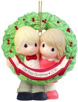 """Precious Moments Precious Moments, Christmas Gifts, """"Our First Christmas Together 2016"""", Bisque Porcelain Ornament"""