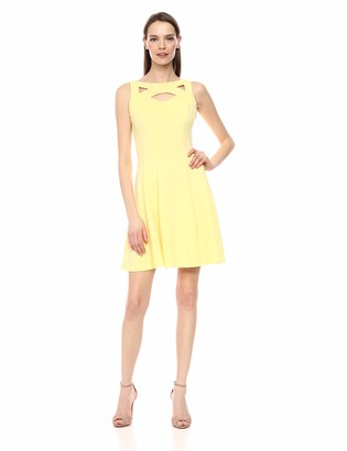 Gabby Skye Women's Cutout Fit and Flare Dress
