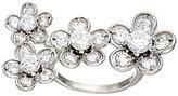 Diamonique Floral Design Ring, Sterling