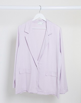 ASOS DESIGN soft dad 3 piece suit blazer in dusty lilac