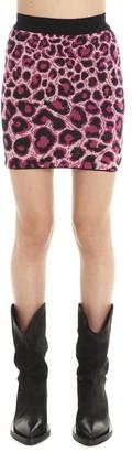 Alberta Ferretti Animalier Print Mini Skirt