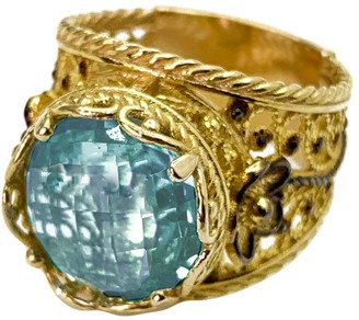 Artisan Crafted 18K Gold Plated Sterling Gemstone Ring