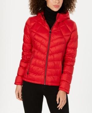 Michael Kors Michael Petite Packable Down Puffer Coat, Created for Macy's