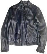 Prada Navy Leather Jackets