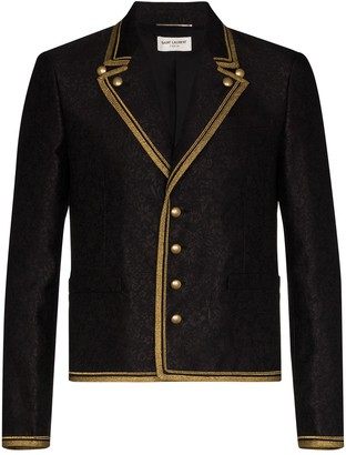 Saint Laurent Military-Style Single-Breasted Blazer