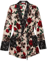 Equipment Theron Floral-print Silk Robe