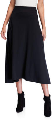 Joan Vass Petite Long Cotton Interlock Skirt