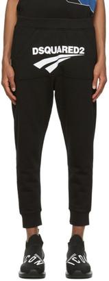 DSQUARED2 Black Kangaroo Pocket Lounge Pants