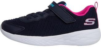 Skechers Junior Girls Go Run 600 Marathon Mania Navy/Hot Pink