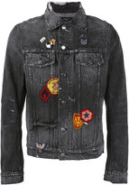 Amiri - logo embroidered denim jacket - men - Cotton - S