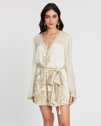 Camilla Panelled Playsuit with Belt