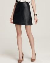 RAOUL Mini Leather Skirt