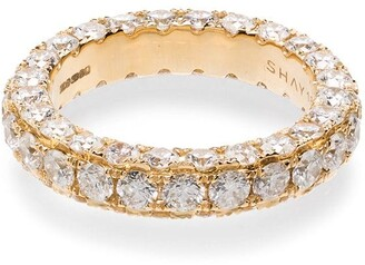 Shay 18kt Yellow Gold White Diamond Eternity Ring