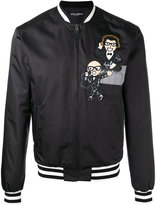Dolce & Gabbana musical patch bomber jacket - men - Polyester - 48