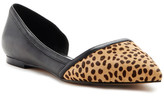 Nicole Miller Lily Genuine Leather & Genuine Printed Animal Hair d&Orsay Flat