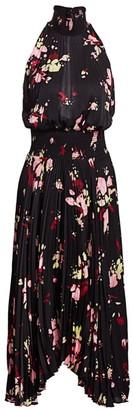 A.L.C. Renzo Floral Pleated Blouson Dress