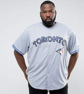 Majestic Plus Mlb Toronto Blue Jays Baseball Replica Jersey In Grey