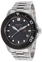 Gucci YA126249 Men's G-Timeless Stainless Steel Black Dial