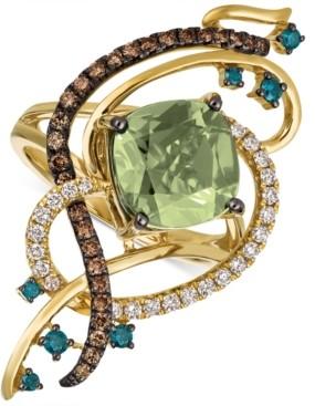 LeVian Le Vian Exotics Crazy Collection Mint Julep Quartz (3-1/4 ct. t.w.) & Diamond (3/4 ct. t.w.) Statement Ring in 14k Gold
