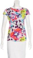 Alice + Olivia Floral Short Sleeve T-Shirt