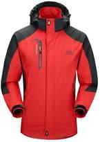 Diamond Candy men Sportswear Hooded Softshell Outdoor Raincoat Waterproof Jacket 08DBXXL