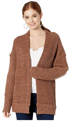 Free People High Hopes Cardi (Chocolate) Women's Clothing