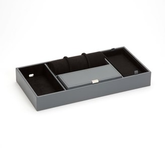Pottery Barn Howard Leather Valet Tray With Roll