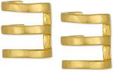 Rachel Roy Gold-Tone Three Row Ear Cuffs