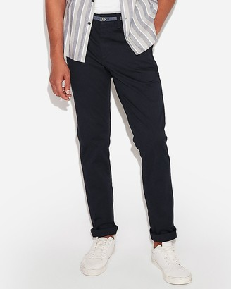 Express Skinny Chambray Trim Temp Control Stretch+ Chino